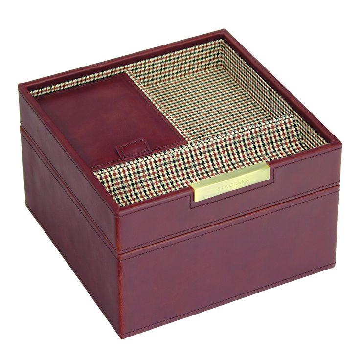 Square box, 2 dielny set / hnedá / káro
