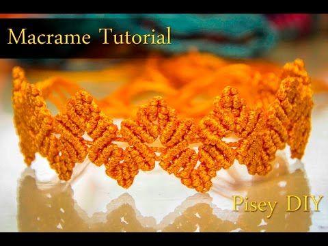 Macramé Knotted Plait bracelet Macrame Tutorial /Friendship / DIY / How to make - YouTube