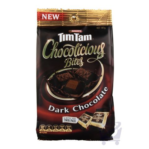 Tim Tams Chocolicious Bites Dark Chocolate – Arnott's 187g | Shop Australia