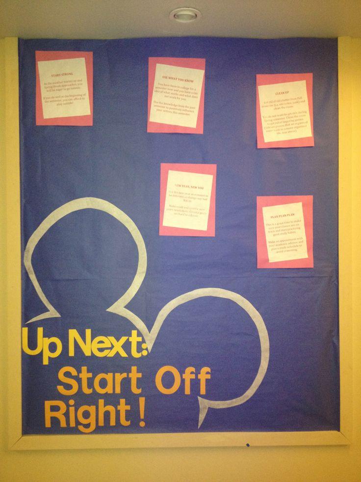 Classroom Bulletin Design ~ Disney theme bulletin board college ra ideas pinterest