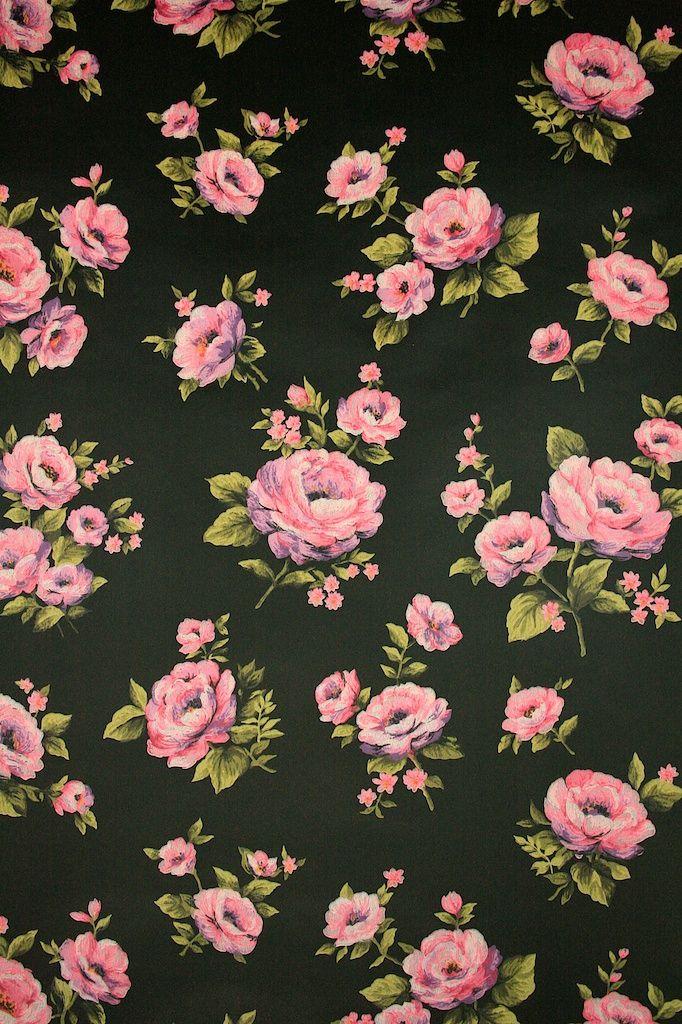 Black roses floral wallpaper - Vintage Wallpapers
