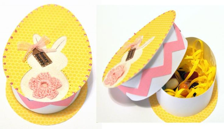 HONEY BUNNY egg goodie box by cutups - Cards and Paper Crafts at Splitcoaststampers