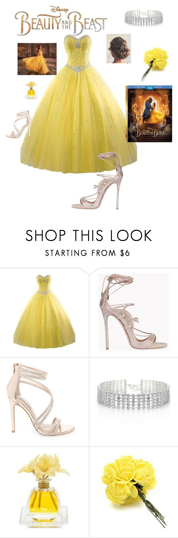 """Untitled #1"" by swiftyme ❤ liked on Polyvore featuring Disney, Dsquared2, Steve Madden, Red Herring, Agraria, BeautyandtheBeast and contestentry"