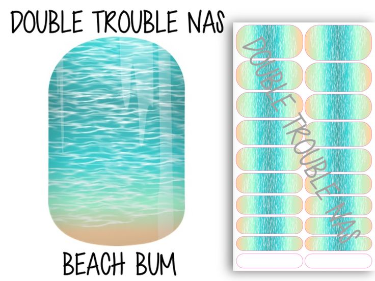 Beach Bum, Jamberry NAS nail wrap design. Check out our Facebook group for more designs and purchase information! #nailart #beach #tropical #vacation #ocean #water