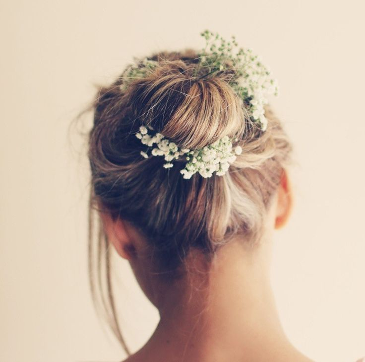 Little Baby S Breath Flowers Tucked In Hair