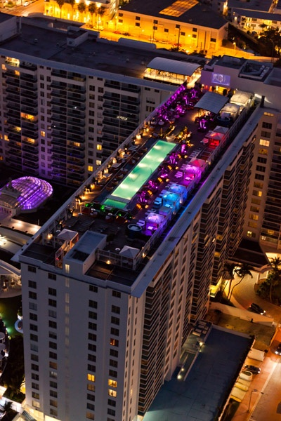 The Gansevoort Miami Rooftop Bar Amazing All Roof