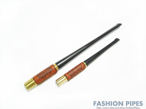 "Vintage Cigarette Holder ""Marilyn Monroe"" Red Leather  Holders 5.9"" & 3.6"" Long Cigarette Holders Set on Etsy, $17.50"