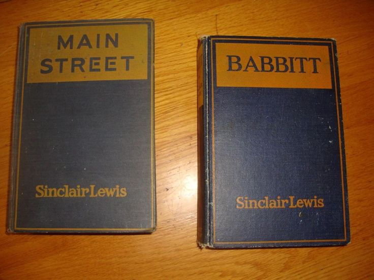 1920 Babbitt AND Main Street First Editions Sinclair Lewis Pulitzer Prize Winner