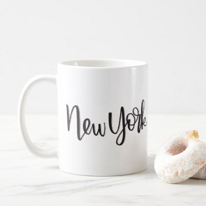 New York | Mug - calligraphy gifts custom personalize diy create your own