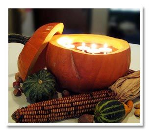 fall wedding centerpieces with candles   Share