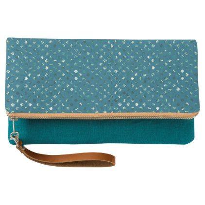 Trendy abstract blue clutch - cyo diy customize unique design gift idea