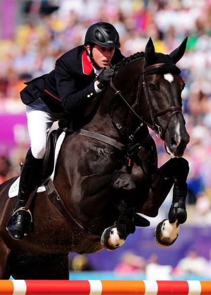 British equestrian Ben #Maher and Tripple X during London 2012 Olympic Games at Greenwich Park. #Showjumping