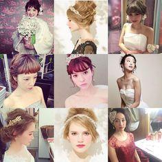 前髪無しの花嫁さんも 有りの花嫁さんもどちらも可愛いー♡ 前髪は式の前に伸ばすか切るか皆様悩む所です  お客様にもよく式前の前髪について相談いただきます 今日もリアルにご相談頂いたので前髪特集を。  #rumi_ヘアアレンジ  #rumiヘアアレンジ