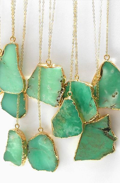 http://rubies.work/0689-sapphire-ring/ Chrysoprase Necklace Natural Genuine Green Gemstone Pendant Gold Layering