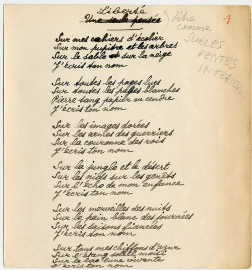 Les 25 meilleures id es concernant libert de paul eluard - Le salon du manuscrit ...