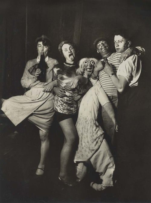 drunk after party artists @Simone Brommet @Joao coert by August Sander  Karneval, Cologne, c.1920s