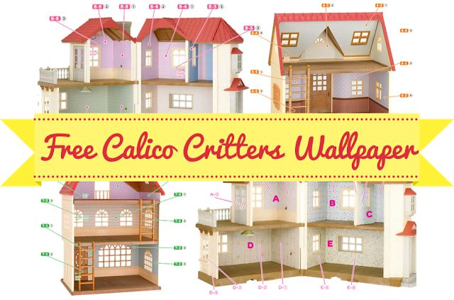 Dainty And Sweet Free Printable Calico Critters Wallpaper