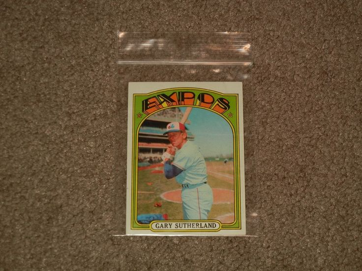 1972 Topps Gary Sutherland Expos Baseball Card #211 (Sports, Collectibles) #MontrealExpos