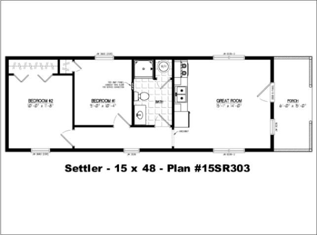 16x40 Cabin Floor Plans on 2012 single wide mobile homes