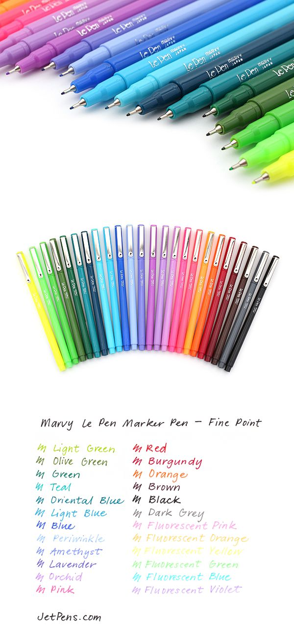 Use these pens for doodling, color-coding, or adding a boost of color to business forms, journals, yearbooks, and scrapbooks.