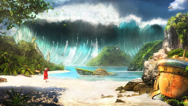miyazaki - the future boy conan .. 3d environment , Stefano bertelli on ArtStation at https://www.artstation.com/artwork/zQwDd