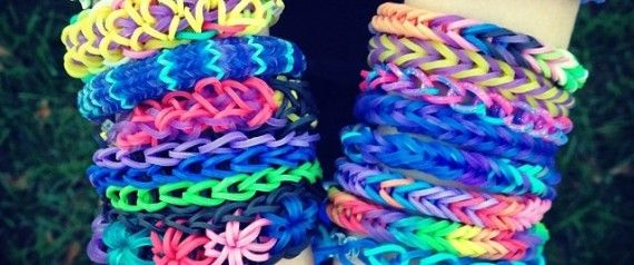 "Rainbow Loom bracelets are bright, colorful, fun and -- at some schools -- now banned. A school in Park Slope, Brooklyn recently banished the rainbow bracelet weaving kits from the school grounds, claiming that the rubber band accessories distracted ""addicted"" students."