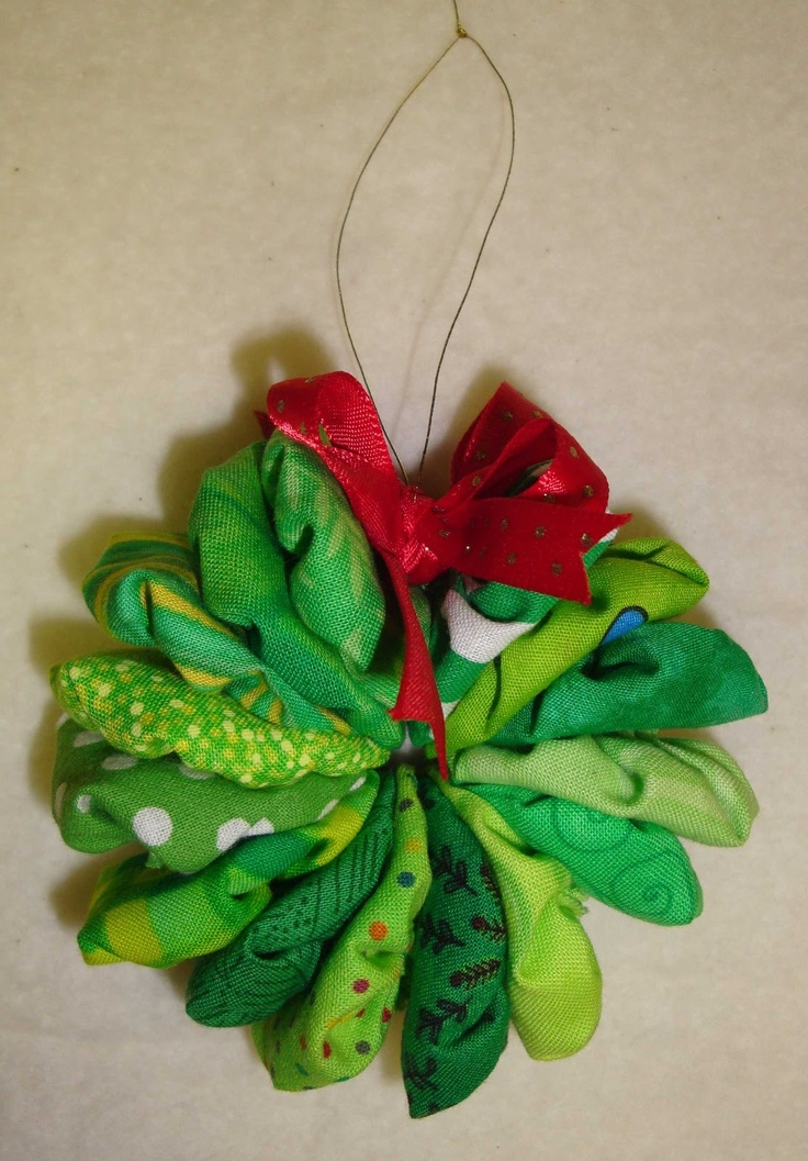 Made Crafts Christmas Wreath Ornaments