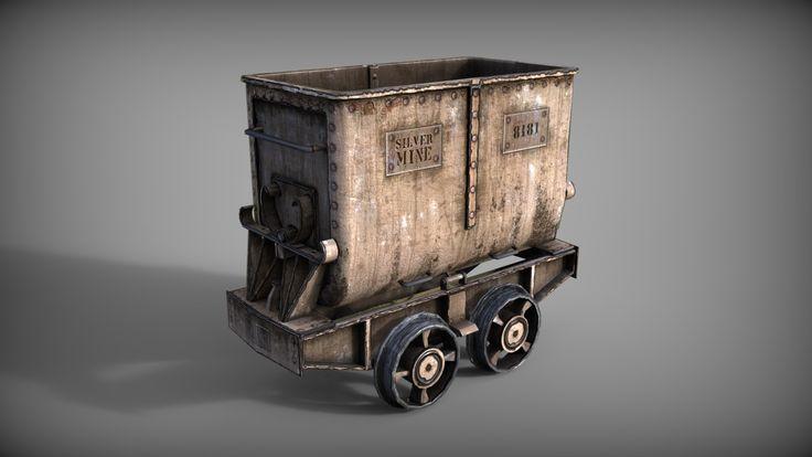 ArtStation - Mine cart, Michal Bystrek