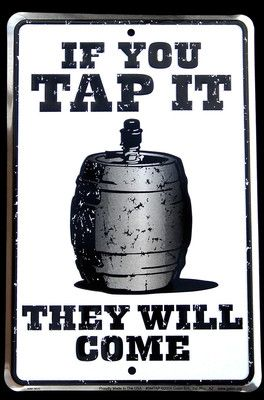 "Vintage Antique BEER tap KEG Barrel Tin Metal BAR SIGN www.LiquorList.com ""The Marketplace for Adults with Taste"" @LiquorListcom #LiquorList."