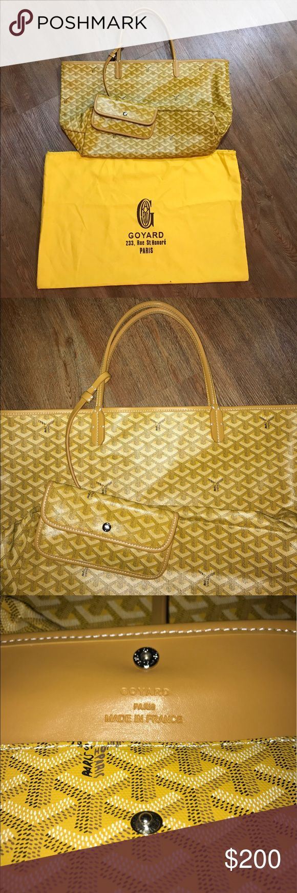 Handbag Yellow Leather Gorgeous Goyard bag. Purchased online. Price reflects the auth. Ask questions or make an offer. Goyard Bags Totes