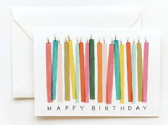 Riffled Paper birthday cards in Inspiration and ideas of cards, invitations and stationery for babies, children and adults parties, for events such as anniversaries or birthdays or dinners