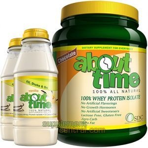 Try About Time Protein  - 100% All Natural  - No Artificial Flavorings  - No Growth Hormones  - No Artificial Sweeteners  - Zero Carbs  - 100% Whey Protein Isolate   A one of a kind protein for general health and ideal for weight loss! Receive 2 Free Fill & Go Shakers with purchase. Now just $34.95!