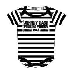 johnny cashCash Onesies, Stripes Onesies, Cash Folsom, Kids Stuff, Prison Onesies, Baby Clothing, Johnny Cash, Folsom Prison, Baby Stuff