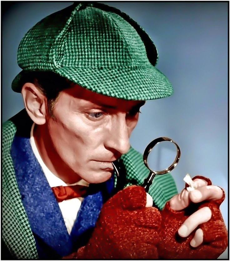 Peter Cushing as Sherlock Holmes in the 1959 version of Hound of the Baskervilles.