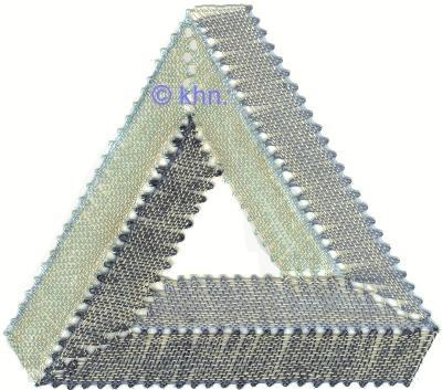 Escher Dreieck, opt. Illussion  eigener Entwurf und Ausführung