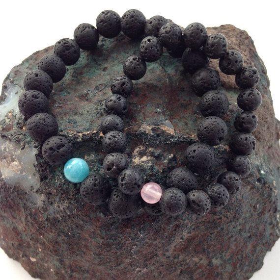 Paare-Armbänder Geburtstagsgeschenk die passende Lava von Chalso