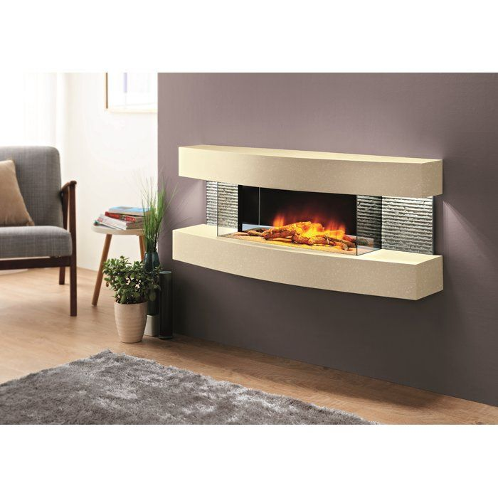 Fraenzel Curve Wall Mounted Electric Fireplace Wall Mount