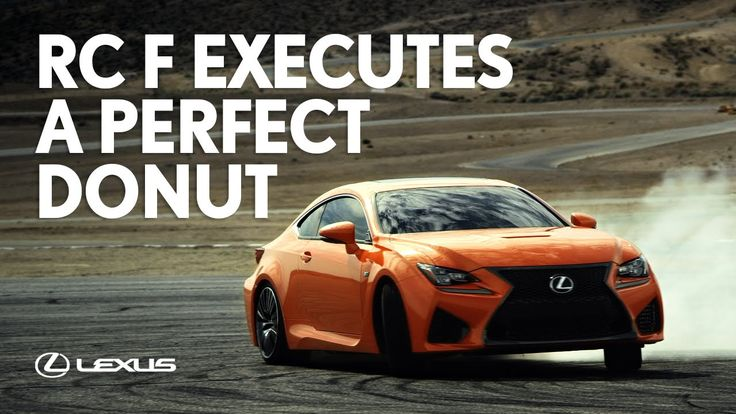 Lexus - RC F Executes a Perfect Donut