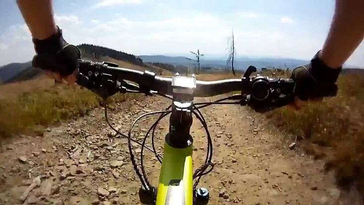 Cycling route from the top of Kopa Skrzyczenska to Malinowska Skala in the Silesian Beskid Mountains.