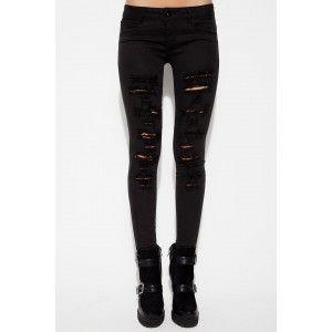 Én Vie by Lidyana - #Vanessa Siyah #Yırtık #Skinny #Jean Pantolon #brandstore