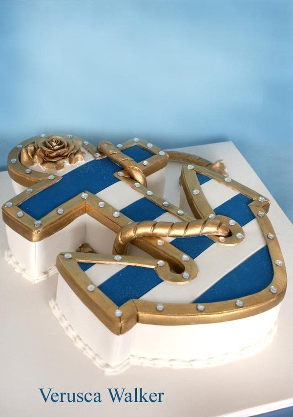 anchor cake by ~Verusca on deviantART, can this please be my next birthday cake?