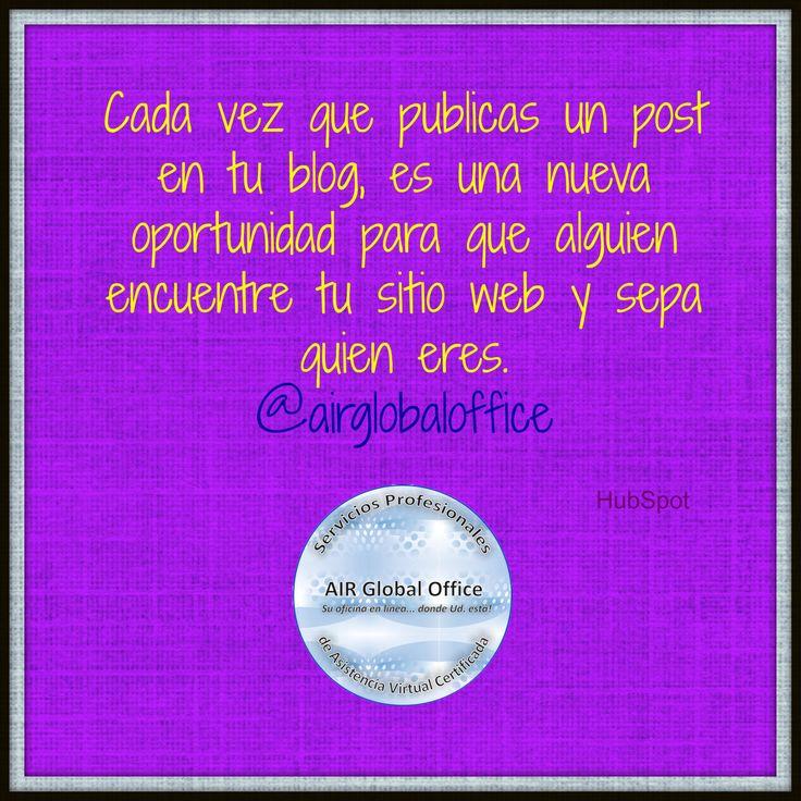 Lleva más #tráfico a tu #web generando #contenido en tu #blog! #asistentevirtualya