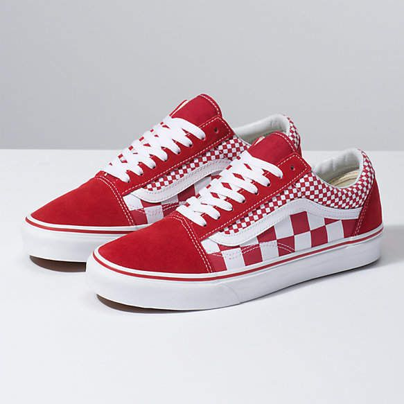 Mix Checker Old Skool | Red checkered