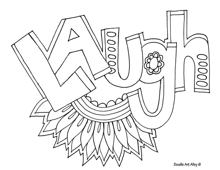laugh adult coloring pages