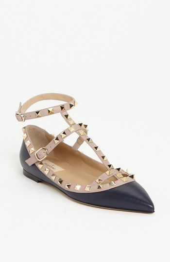 Valentino 'Rockstud' T-Strap Flat. These too :)