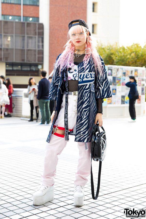 aa3cb07b33a7 Pink Hair & Layered Tokyo Streetwear w/ Dog Harajuku, M.Y.O.B., Killstar,  YRU, DVMVGE & Glad News