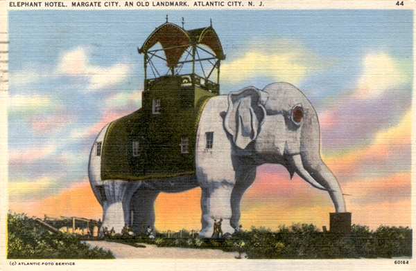 Lucy, the elephant hotel in Margate, NJ