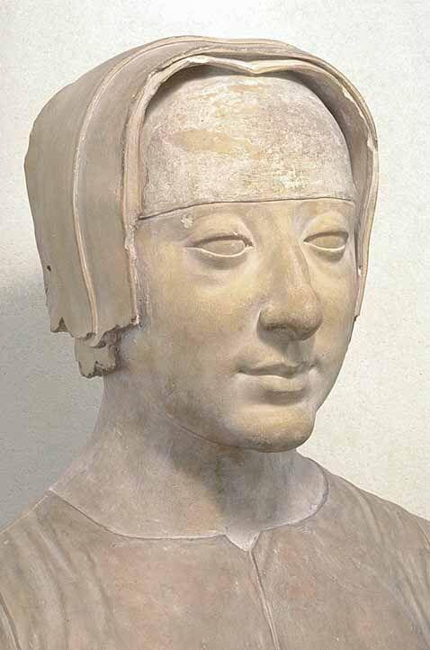 Buste de Louise de Savoie, artiste italien, vers 1510, musée du Louvre.- Née le 11 sept 1476 au château de Pont-d'Ain et morte le 22 septembre 1531 à Grez-sur- Loing, princesse de la maison ducale de Savoie, elle fut la mère de François 1°.