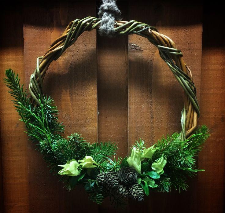 Wreath, seppele, kranssi, kranser, xmas, joulukranssi, pajutyö, xmas decoration