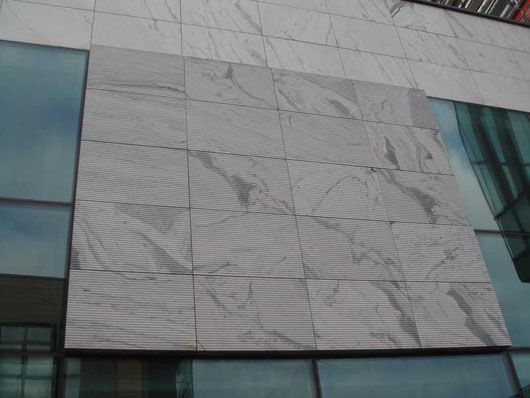 White marble formica for exterior wall cladding bing for Exterior wall construction materials